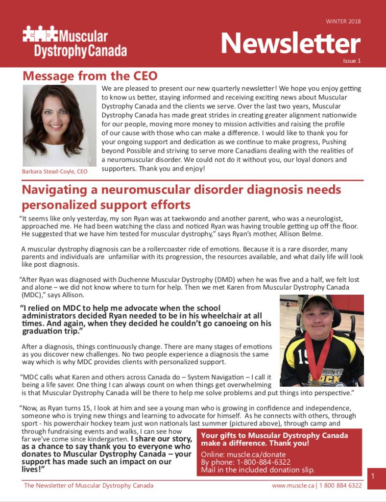 MDC Newsletter - Winter Issue 1