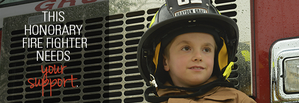 This honorary fire fighter needs your support